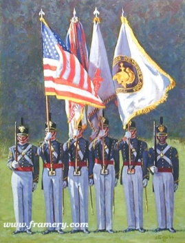 "BICENTENNIAL COLOR GUARD by Don Stivers In stock and available Giclee' on canvas Image size: 21 X 16"" Current price - $200"