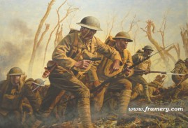 """THE BLACK RATTLERS by Don Stivers Image Size 15.5 X 22"""" 369th Infantry Regt. in WW I Also called """"Hellfighters"""" and """"Harlem Hellfighters"""" In stock and available Current price $150"""