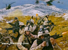 "BROTHERS IN BATTLE Coalition Task Force ""Mountain"" in Operation Anaconda in Eastern Afghanistan, March 11-18, 2002 Image size 18 X 24"" In stock and available Current price - $175"
