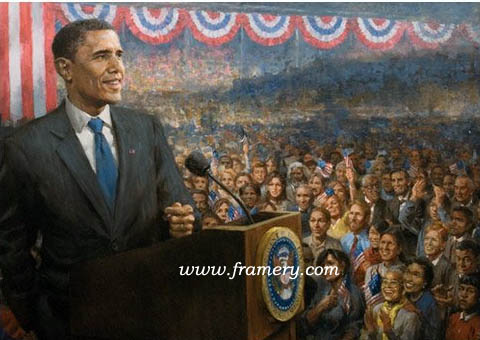 CHANGE by Andy Thomas Celebrating the election of our first African-American President with many familiar faces in the audience. Print on Paper 21 X 28 - SPECIAL! $99.50 Giclee on Canvas 36 X 48 - $1250.00 Giclee on Canvas AP 30 X 40 - $750.00 Giclee on Canvas S/N 30 X 40 - $650.00 Print on Canvas 21 X 28 - $350.00 AP on Paper 21 X 28 - $200.00