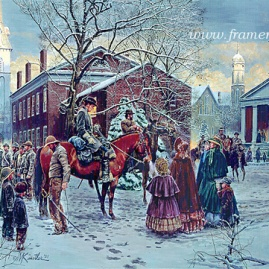 CHANGING OF THE PICKETS 2001 Snow Scene Fredericksburg, Va., December 1862 In stock and available Current price - $200