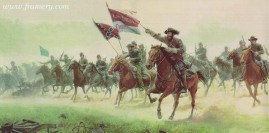 THE CHARGE AT TREVILIAN STATION Gen. Wade Hampton and the Citadel Cadets, June 11, 1864. Image size: 13 X 29.5 Current price - Call