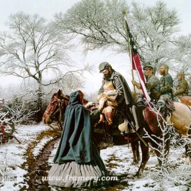 CHRISTMAS BLESSING A young woman asks Gen. Jackson to pray for her child. Martinsburg, Va., Winter 1862 Current price - Call