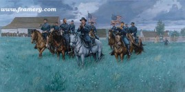 THE COMING RAIN by Dale Gallon Brig. Gen. John Buford speaks to his men as they prepare for the Battle of Gettysburg, June 30, 1863. Current price - Call