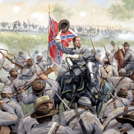 CONFEDERATE GLORY by Dale Gallon BG Garnett leads his brigade of Pickett's Division against the Union Center. Gettysburg, July 3, 1863 In stock and available Current price - $200