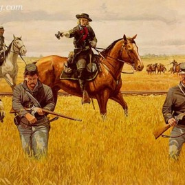 CUSTER AT HANOVER by Dale Gallon Gen. Custer prepares for battle at Hanover, June 30, 1863. Featuring the Spencer Army repeating rifle. In stock and available Current price - $200