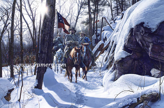 ESCAPE FROM FT DONELSON LTC Nathan Bedford Forrest leads his men away from Union forces to Nashville. Feb. 17, 1862 Current price $750