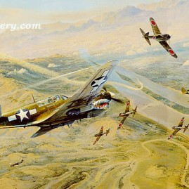 FIGHTING TIGERS by Robert Taylor Commemorating the famous Flying Tigers. In stock and available Current Price - $395
