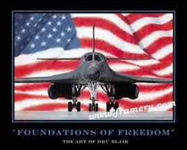 "FOUNDATIONS OF FREEDOM by Dru Blair Poster - Not signed 24 X 30"" In stock and available - $45"