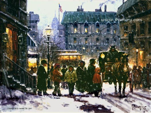 """FRESH SNOW IN THE CITY 12"""" X 16"""" In stock and available Current price - $95"""