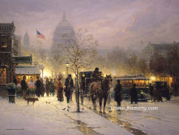 WE THE PEOPLE Washington DC Snow Scene In stock and available Current price - $375