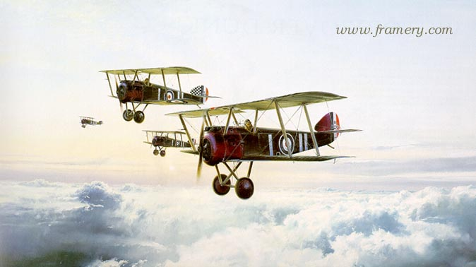 HIGH PATROL by Robert Taylor Hand signed by Sir Thomas Sopwith In stock and available Current price - $1,150