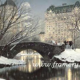 "HOLIDAY IN THE PARK Twilight in Central Park"" with a holiday touch. Sales benefit American Cancer Society of No. Ga. S/N Giclee on Canvas 24 X 36"" In stock and available Current price - $225"