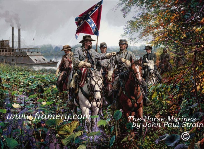 THE HORSE MARINES Gen. Forrest and Gen. Chalmers captured the USS Undine, Paris Landing, TN In stock and available Current price - Call