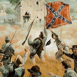 IMPERISHABLE GLORY by Dale Gallon The 11th Mississippi Volunteer Inf. Reg. attacks Union defenses during Pickett's Charge at Gettysburg, July 3, 1863. In stock and available Current price - $175