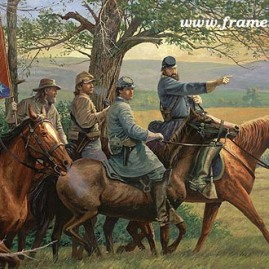 JACKSON IN THE VALLEY by Dale Gallon Gen. Stonewall Jackson prepares for The Valley Campaign, Spring 1862. Call for availability and price.