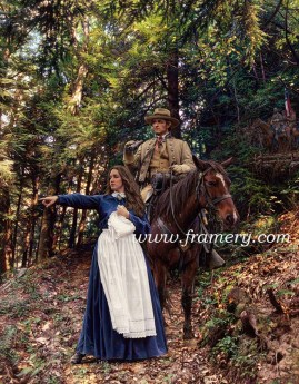 """LA BELLE REBELLE"" Image size 19.5 X 28.5"" Confederate spy Belle Boyd shares information with 1LT Henry Kyd Douglas, CSA Front Royal, Va., May 23, 1862 In stock and available Current price - $200"