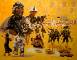 """A LEGACY OF LEADERSHIP AND EXCELLENCE by Don Stivers Image size 18 X 23"""" A tribute to the African-American tradition and heritage of military service In stock and available Current price - $150"""
