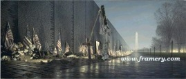"""LINE OF DUTY by Rod Chase Print -- Image size 14.5 X 34"""" In stock and available - Current price $150"""