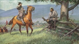 LORD OF THE VALLEY by Dale Gallon Gen. Richard Taylor reports to Gen. Stonewall Jackson near New Market, Va., May 1862. In stock and available Current price - $375