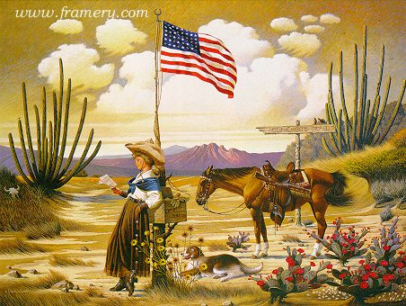 LOVE LETTER FROM LARAMIE by Charles Wysocki  In stock and available - Current price $150