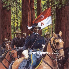"LT CHARLES YOUNG by Don Stivers Image size 18.5 X 22.5"" Among many firsts in his career, Young was the first African-American Acting Superintendent of Sequoia National Park. Current price - Call"