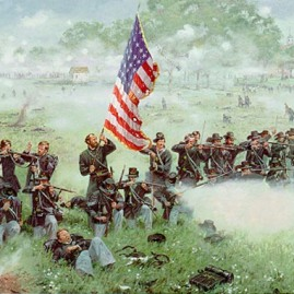 MEN OF IRON by Dale Gallon Col. Henry A. Morrow and the 24th Michigan Reg. at Gettysburg, July 1, 1863. In stock and available Current price - $400