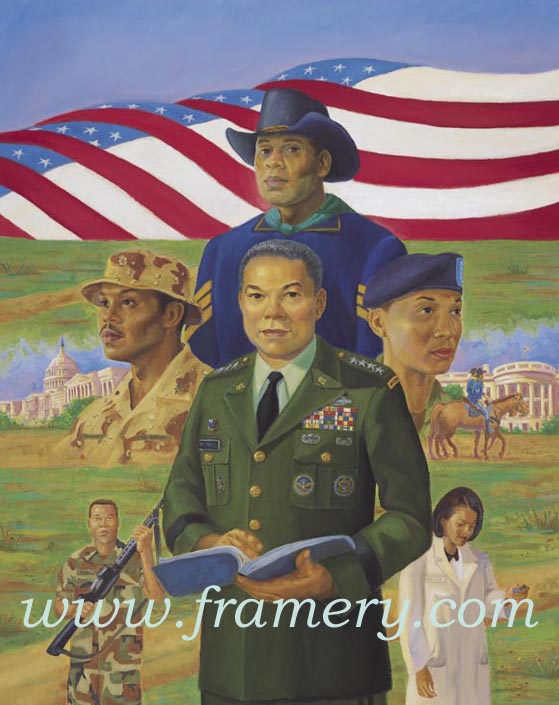 MILES TO GO BEFORE WE SLEEP--TWO by Ernest Varner Paying tribute to Gen. Colin Powell In stock and available Current price - $150