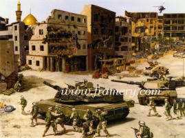 """NO SANCTUARY 37th Armor Regiment in Iraq Operation Iron Saber Image size 17.5 X 23"""" In stock and available Issue price - $175"""