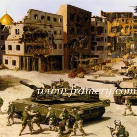 "NO SANCTUARY 37th Armor Regiment in Iraq Operation Iron Saber Image size 17.5 X 23"" In stock and available Issue price - $175"