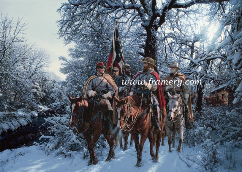 ONWARD CHRISTIAN SOLDIERS Major John Pelham, Generals Stuart, Jackson and Lee near Fredericksburg, Va. Current price - Call