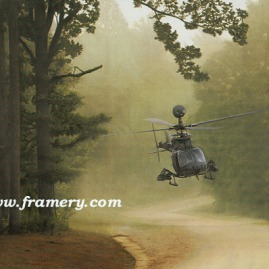 "PATHFINDER by Dru Blair OH-58D Kiowa Warrior Signed only 22 X 30"" In stock and available - $65"