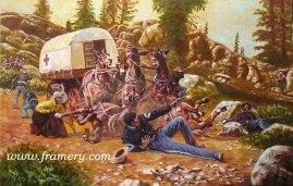 THE PAYROLL AMBUSH 2009 Buffalo Soldier Print by Don Stivers The ambush of Paymaster MAJ Joseph W. Wham, May 11, 1889, Arizona Territory Lim Ed of 750 S/N Current price - $175
