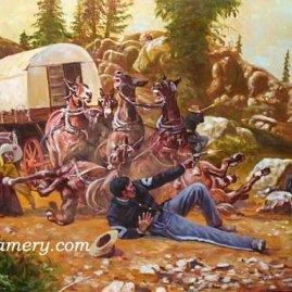 THE PAYROLL AMBUSH 2009 Buffalo Soldier Print by Don Stivers The ambush of Paymaster MAJ Joseph W. Wham, May 11, 1889, Arizona Territory Lim Ed of 750 S/N Current price - $175