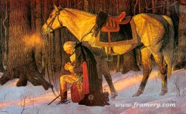 THE PRAYER AT VALLEY FORGE by Arnold Friberg Gallery Edition (unsigned) Image size 17 x 27 In stock and available Current price - $125
