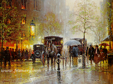 RAINY DAY ON CENTRAL PARK SOUTH Book Collector Edition - City Series Signed/numbered 16 X 20 print accompanies matching numbered book which is bound in cowhide with gilt edges. In stock and available Current price - $270