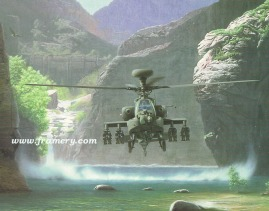 """REDEMPTION by Dru Blair AH-64D Longbow Signed only 24 X 30"""" In stock and available - $65"""