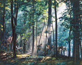 """SACRED GROUND ON LITTLE ROUNDTOP by John Paul Strain In Stock and Available After the battle Federal troops return to Little Roundtop to bury their fallen comrades 200 S/N Paper Giclées - $225 Image Size: 19 1/4 X 24 1/4"""" S/N Studio Canvas Giclées - $275 Artist's Proof Studio Canvas Giclées - $325 Image Size: 18 X 22 3/4"""" S/N Classic Canvas Giclées - $525 Artist's Proof Classic Canvas Giclées - $675 Image Size 24 1/2"""" x 30 3/4"""""""