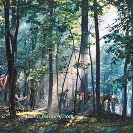 "SACRED GROUND ON LITTLE ROUNDTOP by John Paul Strain In Stock and Available After the battle Federal troops return to Little Roundtop to bury their fallen comrades 200 S/N Paper Giclées - $225 Image Size: 19 1/4 X 24 1/4"" S/N Studio Canvas Giclées - $275 Artist's Proof Studio Canvas Giclées - $325 Image Size: 18 X 22 3/4"" S/N Classic Canvas Giclées - $525 Artist's Proof Classic Canvas Giclées - $675 Image Size 24 1/2"" x 30 3/4"""