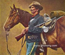 """SERGEANT OF THE LINE by Don Stivers In Stock and Available Giclee on Hahnemuhle German etching paper signed and numbered by the artist's daughter. Embossed with Don Stivers' signature. Image size: 18.5"""" x 16"""" Issue price - $250"""