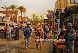 """THE SURGE The operation planned to bring security to the people of Baghdad and Al Anbar Province, January 2007 Image size 15.5 X 25"""" Current price - Call"""