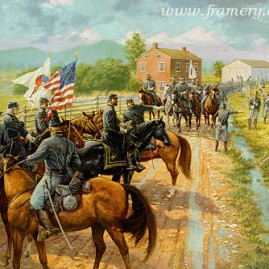 TIME TO FIGHT by Dale Gallon Maj. Gen. John Reynolds prepares for the battle of Gettysburg on Emmetsburg Road, July 1, 1863. In stock and available Current price - $200