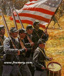 """THE VOLUNTEERS by Don Stivers Image size 16 X 14"""" In stock and available Current price - $150"""