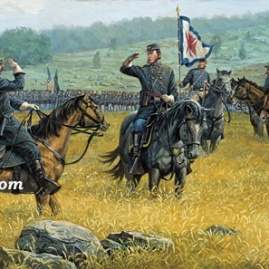 WHAT ARE YOUR ORDERS by Dale Gallon Eastern edge of the Wheatfield, Gettysburg, July 2, 1863 In stock and available Current price - $200