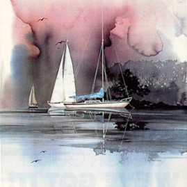 WHITE SAILS by Michael Atkinson In stock and available - Current price $75