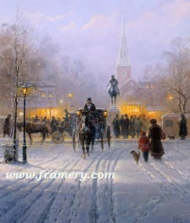 WINTER EVENING IN OLD BOSTON The final release in Harvey's Christmas 2000 Series In stock and available Current price - $195