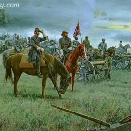 FORMING THE LINE Col. Edward Porter Alexander and Gen. Longstreet place artillery at Gettysburg, July 3, 1863 In stock and available Current price - $200