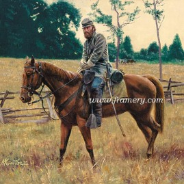 "STONEWALL JACKSON ON LITTLE SORREL Gen. Jackson on his favorite horse Image size 9 X 11"" In stock and available Current price - $95"