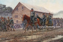 "JACKSON'S FOOT CAVALRY Strasburg, Va., June 1862 A division of Virginians who successfully defended their state in several battles. 18 X 27"" S/N Print - $225 16 X 24"" Sig. Giclee - $295 20 X 30"" Classic Giclee - $575 Current price: Call"