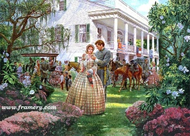 MAGNOLIA MORNING Guests depart Arlington Plantation, Providence, La., the morning after the secession ball. April 7, 1861 Current price - Call